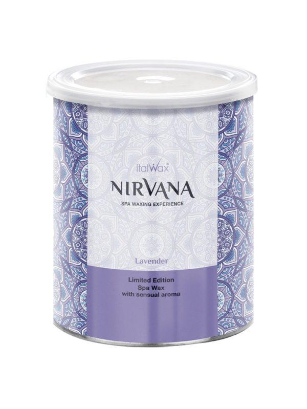 ItalWax Лаванда Nirvana теплый воск для депиляции в банке 800 мл