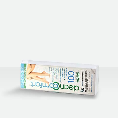 Бумага для депиляции в полосках CleanComfort 100 шт